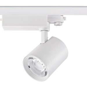 White cob 40w led track light 4 wires for exhibition clothes store